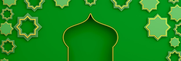 Felice muharram decorazione islamica del nuovo anno