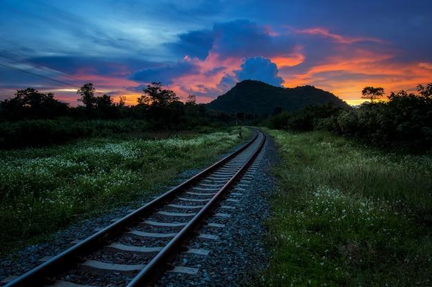 Ferrovia in campagna.
