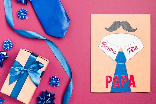 Festa del papà disegno con presente
