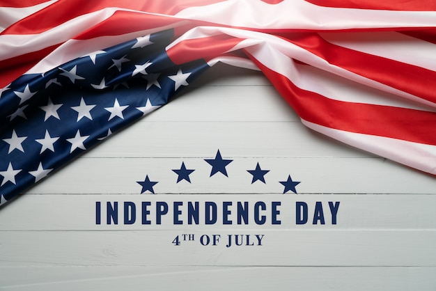 Festa dell'indipendenza usa 4 luglio concetto, bandiera degli stati uniti d'america