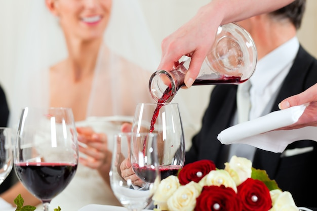 Festa di matrimonio a cena