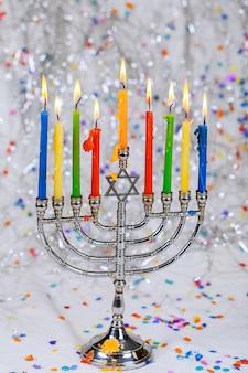 Festa ebraica simboli hannukah - menorah