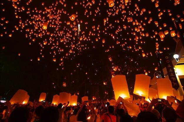Festival del peng di yee, chiang mai, tailandia
