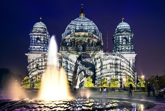 Festival delle luci a berlino, cattedrale di berlino