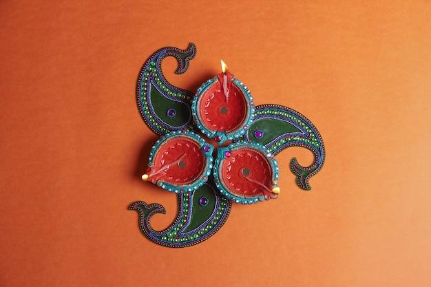 Festival indiano diwali, lampada
