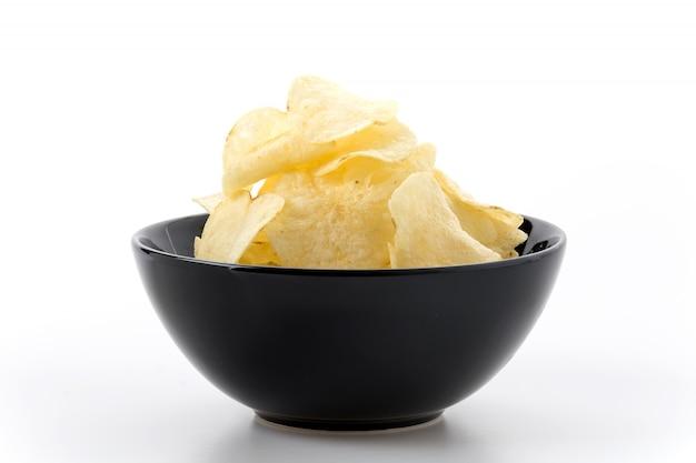Fetta chip giallo spazzatura preparati