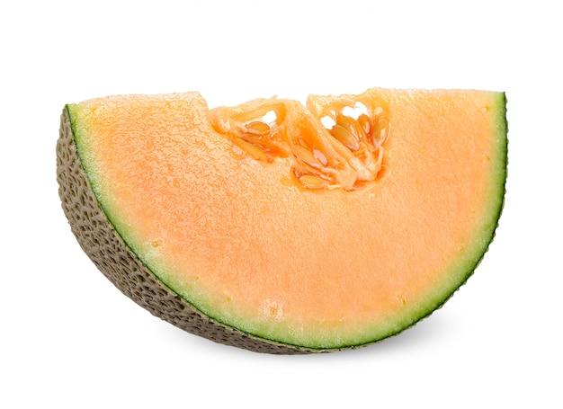 Fetta di melone isolata con il percorso di ritaglio