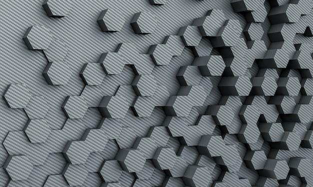 Fibra di carbonio poli geometrica