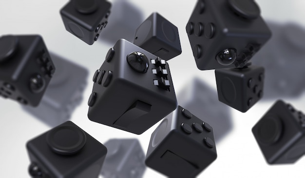 Fidget cube semplice antistress, fingers toy