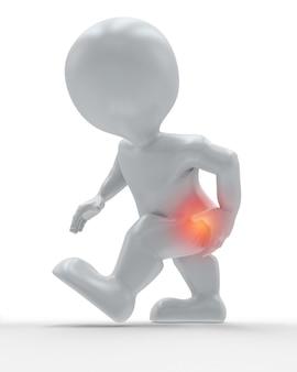 Figura 3d con anca evidenziata nel dolore