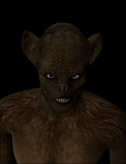 Figura demone 3d