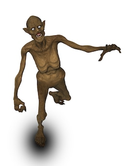 Figura di demone malvagia di halloween 3d