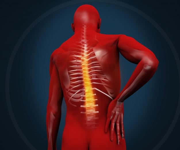 Figura digitale rossa che ha dolore