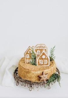 Figura festiva della casa del miele di natale del dessert del dolce