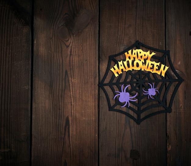 Figure in feltro del web, ragno per le vacanze di halloween