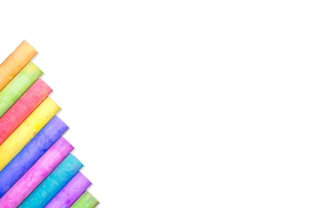 Fila di gesso arcobaleno