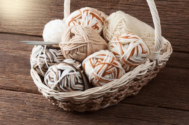 Filati di lana per maglieria