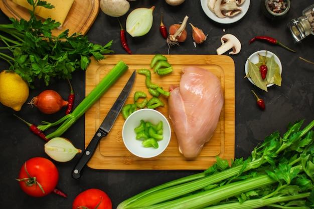 Filetti di petto di pollo con ingredienti
