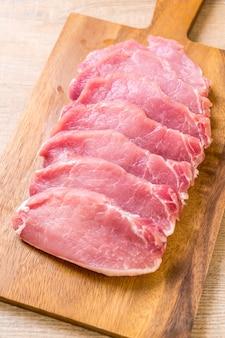 Filetto crudo di maiale fresco