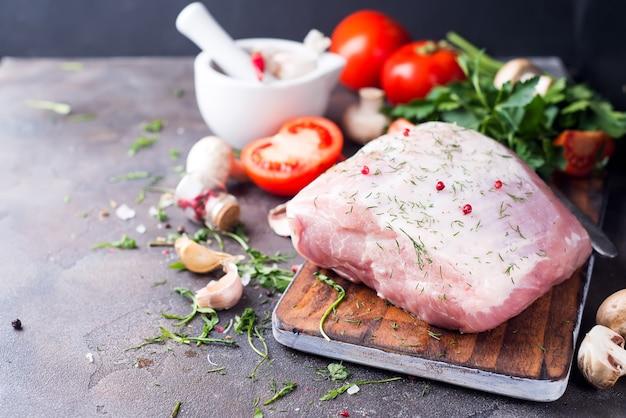 Filetto di maiale fresco