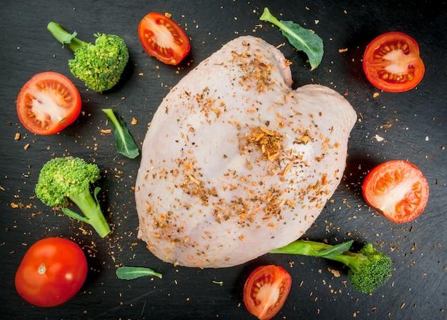 Filetto di pollo con spezie e verdure