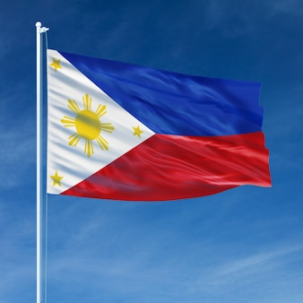 Filippine bandiera volando