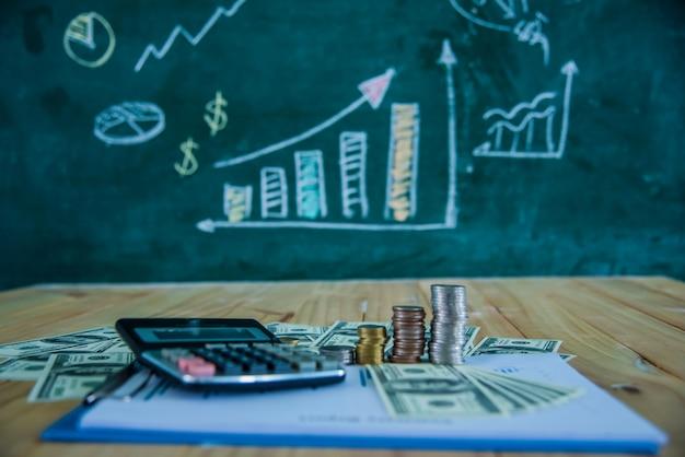 Finanziario e grafico aziendale e grafici
