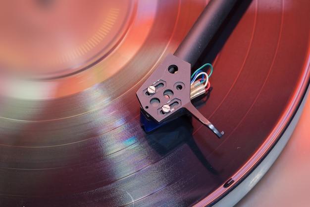 Fine del giocatore di grammofono su