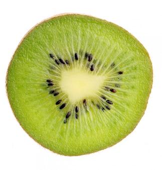 Fine della fetta del kiwi in su