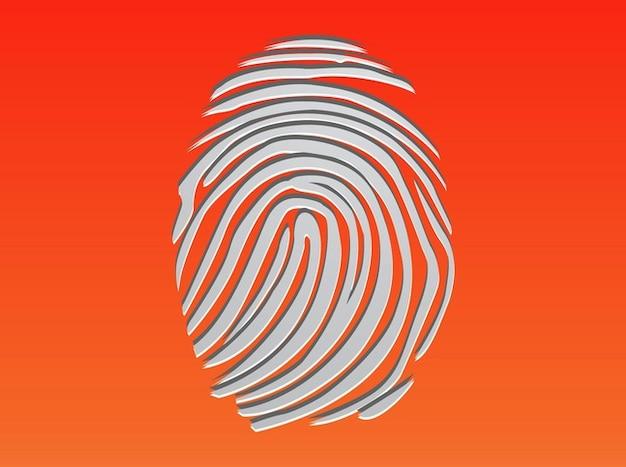 Finger print identità prove vettore