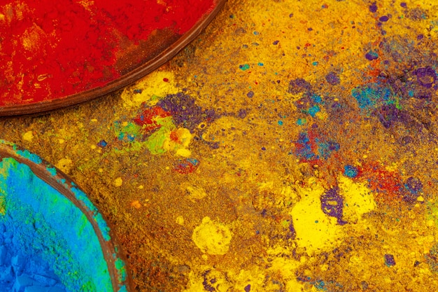 Fiocchi di colore colorato holi