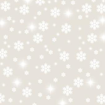 Fiocco di neve natale e stelle