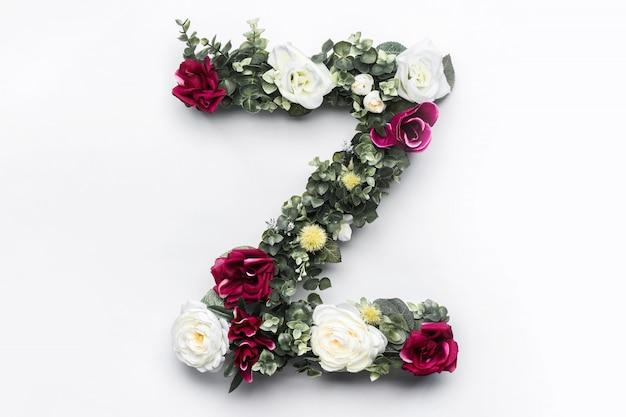 Fiore lettera z monogramma floreale