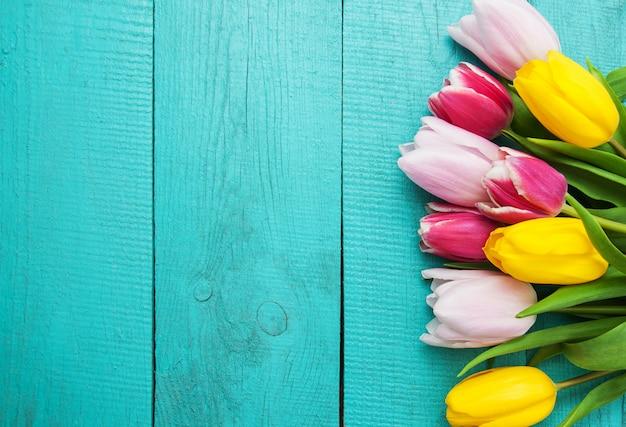Fiori di tulipani di primavera