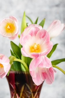 Fiori di tulipani rosa