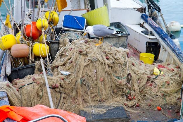 Fishnet sulla barca da pesca