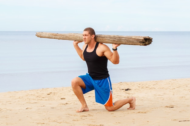 Fitness in spiaggia