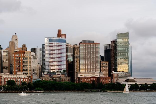 Fiume hudson, new york city, usa