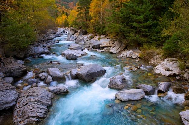 Fiume rio ara bujaruelo in valle de ordesa valle dei pirenei huesca