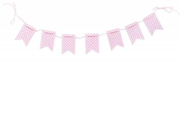 Flags holiday pink