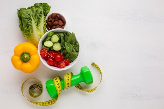Flay laici di insalatiera e pesi