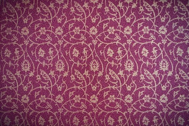 Fleur-de-lis pattern dipinta su un muro di palazzo vecchio - un mu