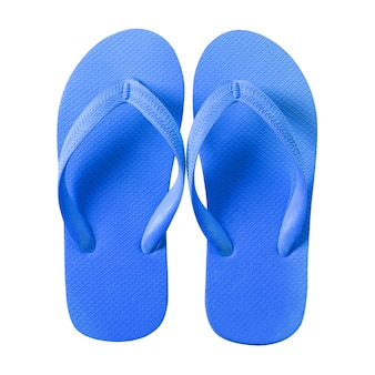 Flip-flop blu isolato su sfondo bianco