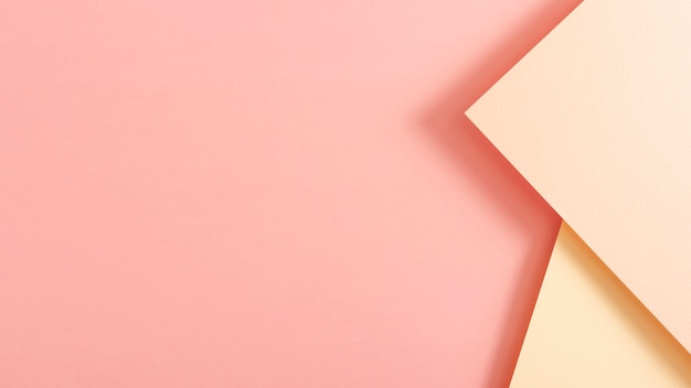 Fogli di cartone tonica rosa con spazio di copia