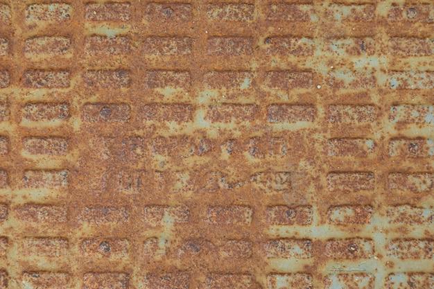 Foglia in metallo arrugginito di colore ferruginoso