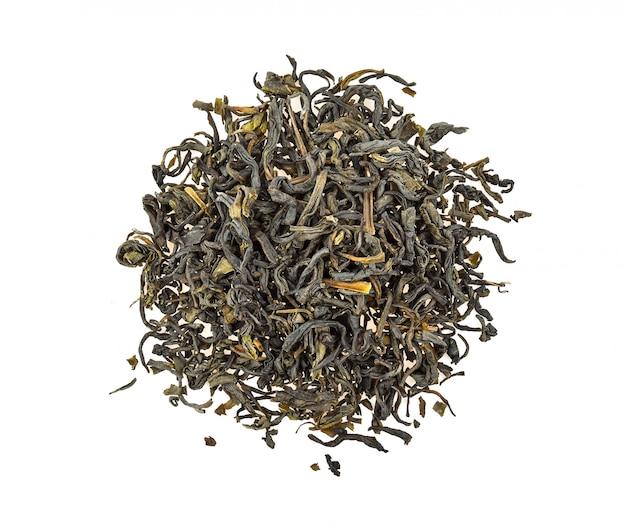 Foglie di tè verde secche
