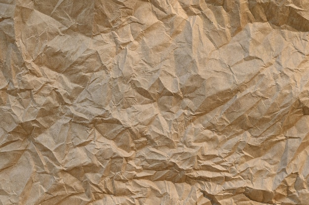 Foglio di carta marrone texture carta stropicciata, trame di carta sono perfetti per la tua carta creativa.