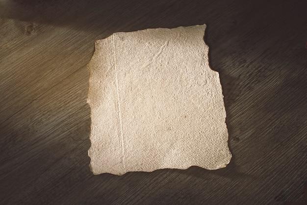 Foglio di pergamena vecchia