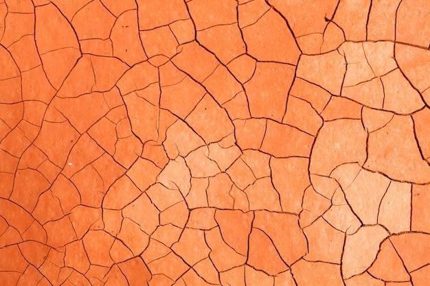 Fondo arancio di struttura del suolo di siccità