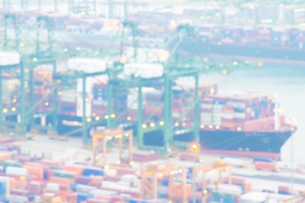 Fondo astratto del carico della gru di trasporto della sfuocatura
